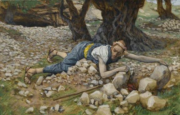 «El tesoro escondido» (ilustración de «La vida de nuestro Señor Jesucristo») por James Tissot (1836-1902)