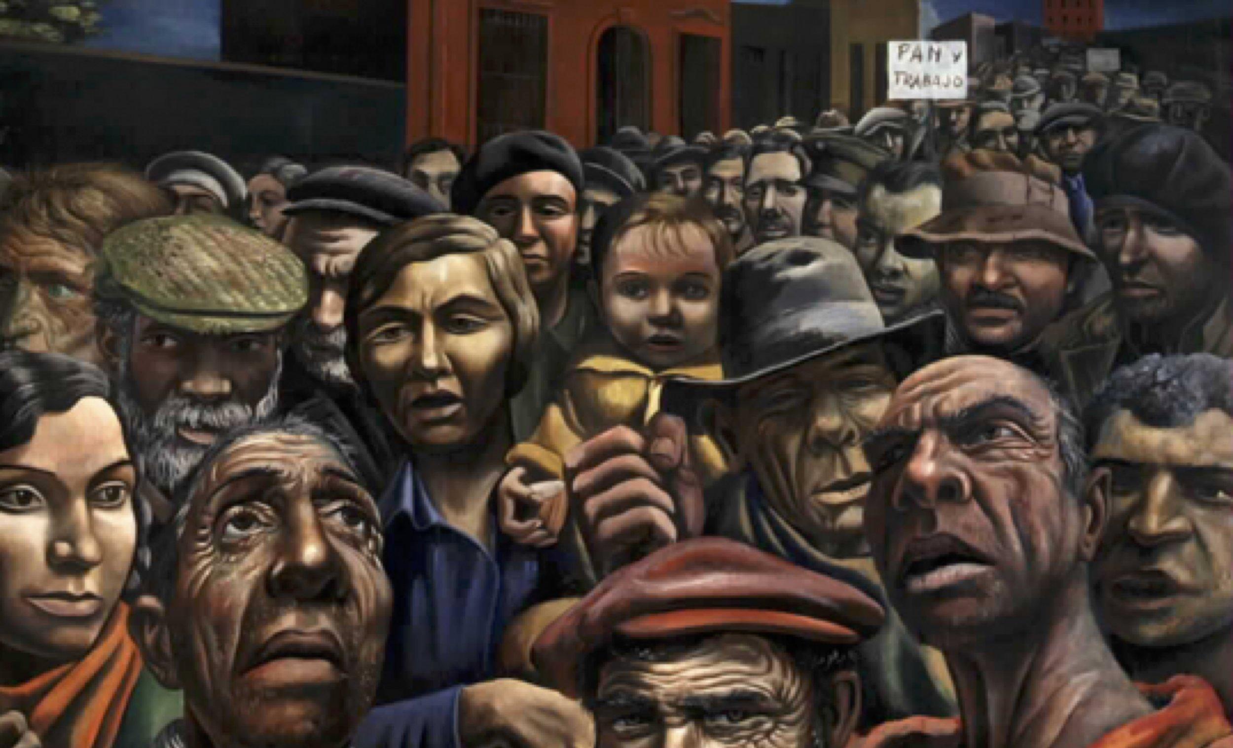 """""""The Manifestation"""" by Antonio Berni, Rosario, Argentina"""