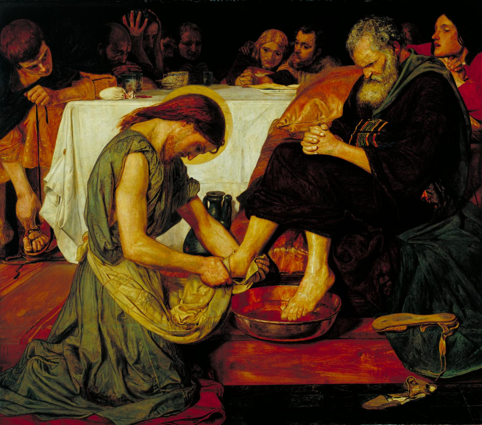 Jesús lava los pies de Pedro, Ford Madox Brown