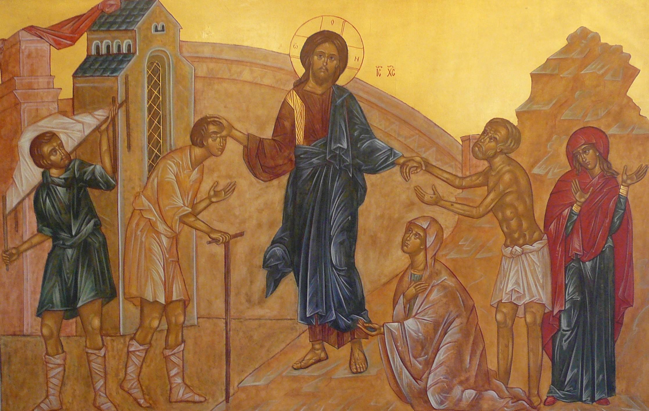 Jesús sana a los enfermos