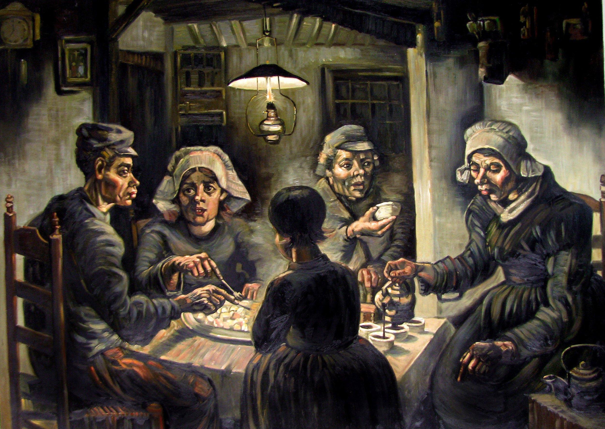 «Los comedores de patatas» de Vincent Van Gogh