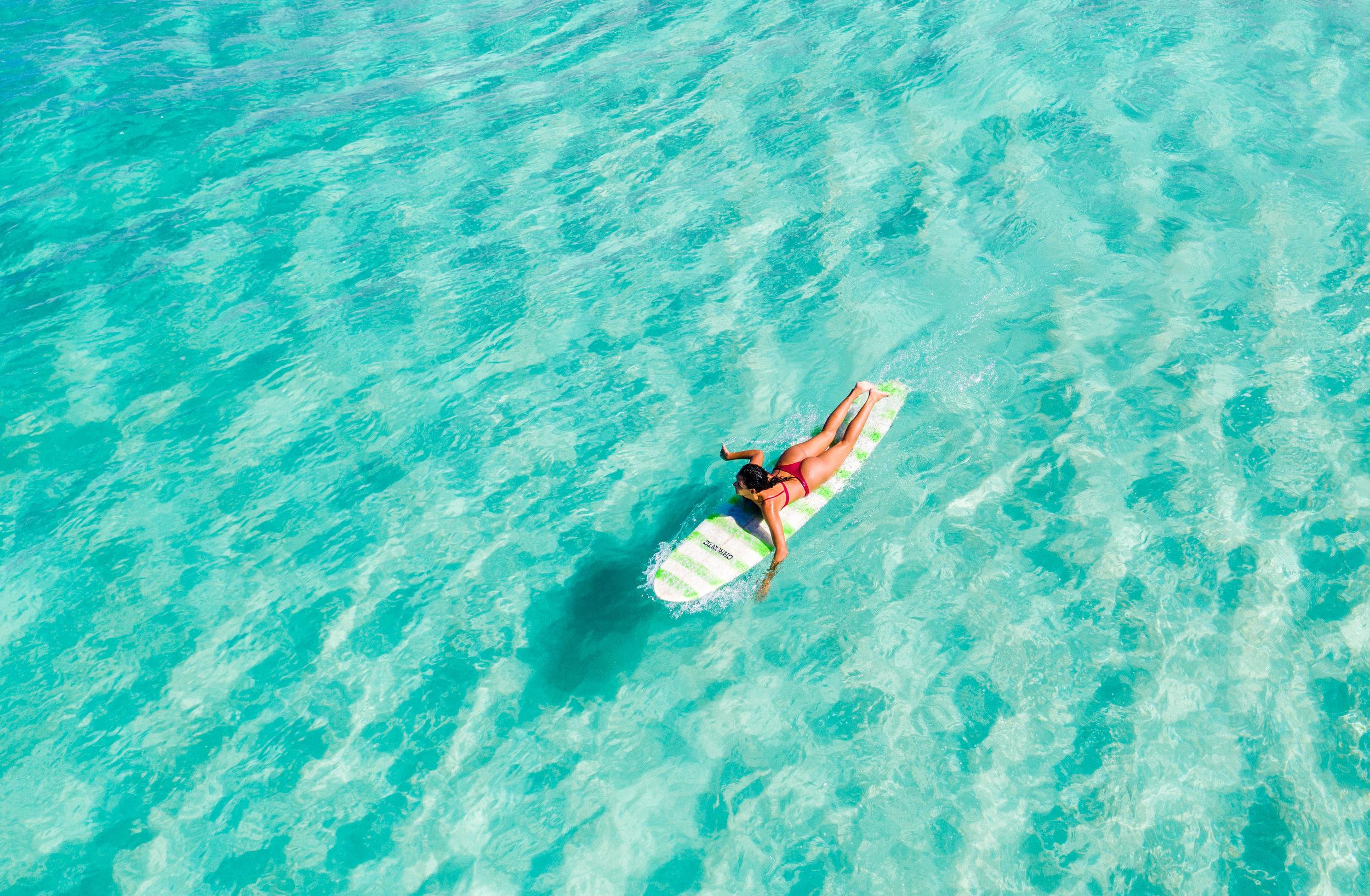 DJI drone surfing hawaii