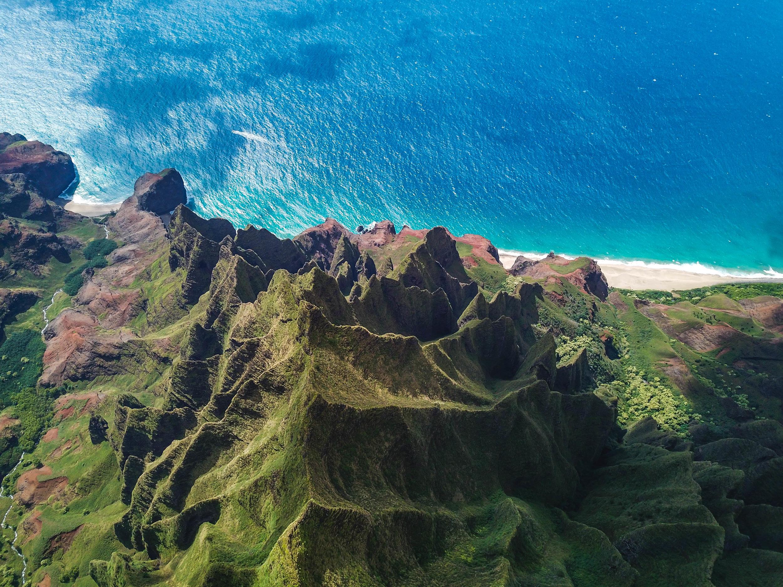 dji drone kauai hawaii photo