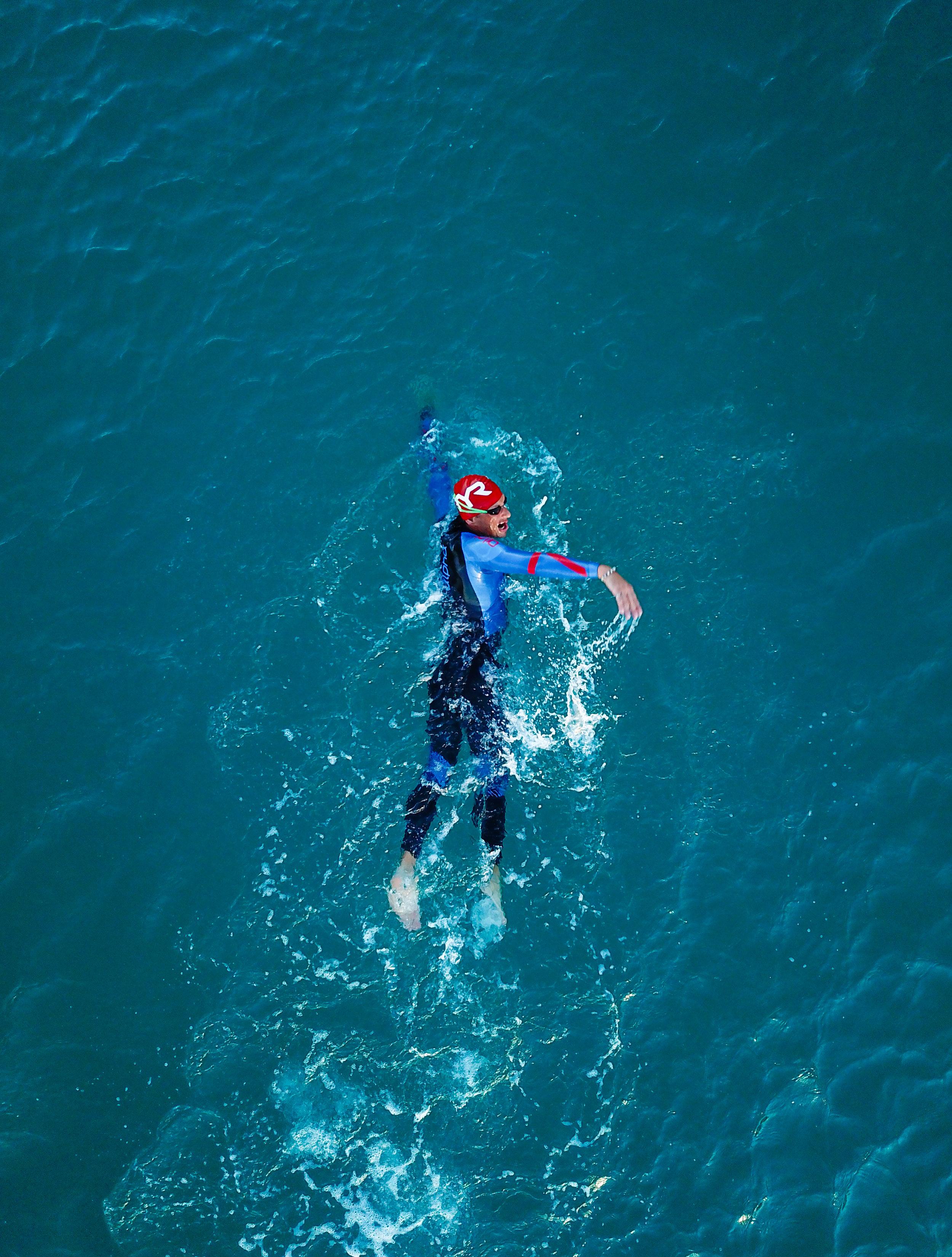 dji drone swimmer athletic