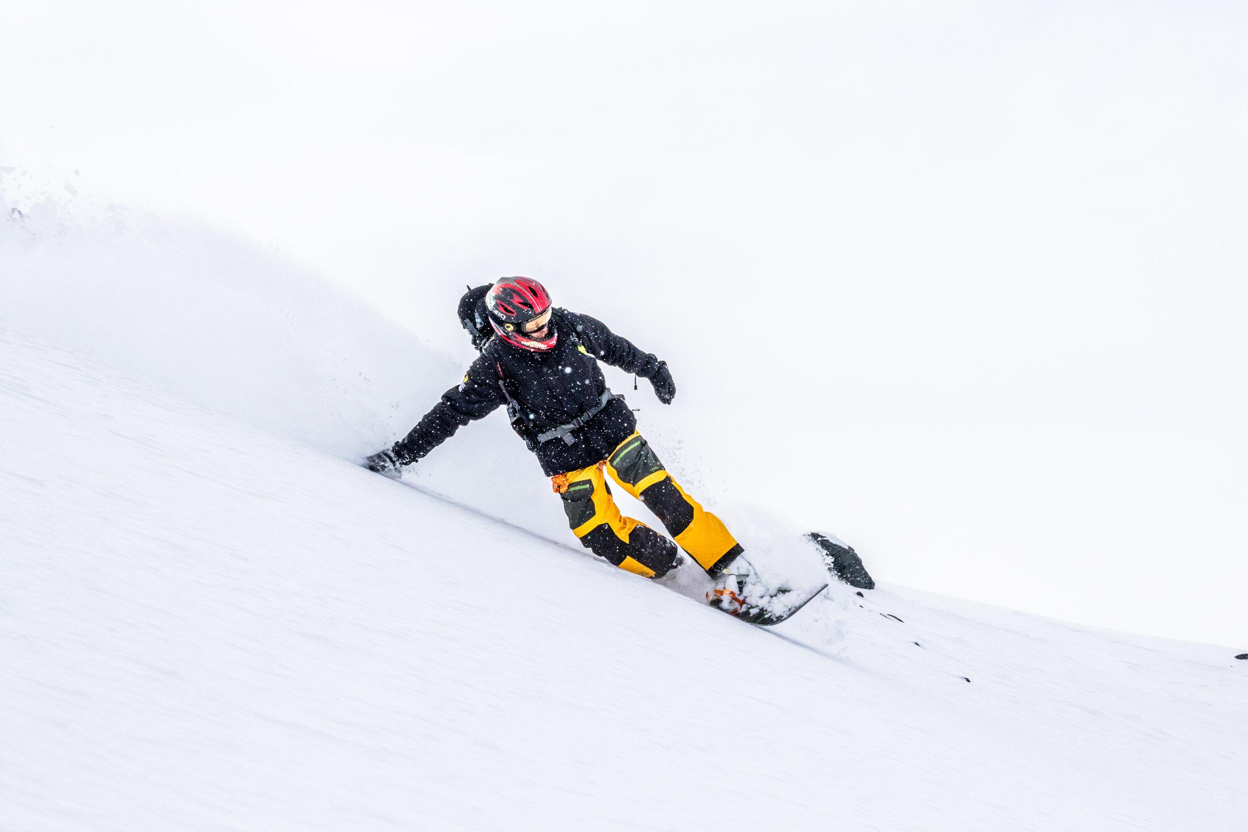 snowboarding alaska powder