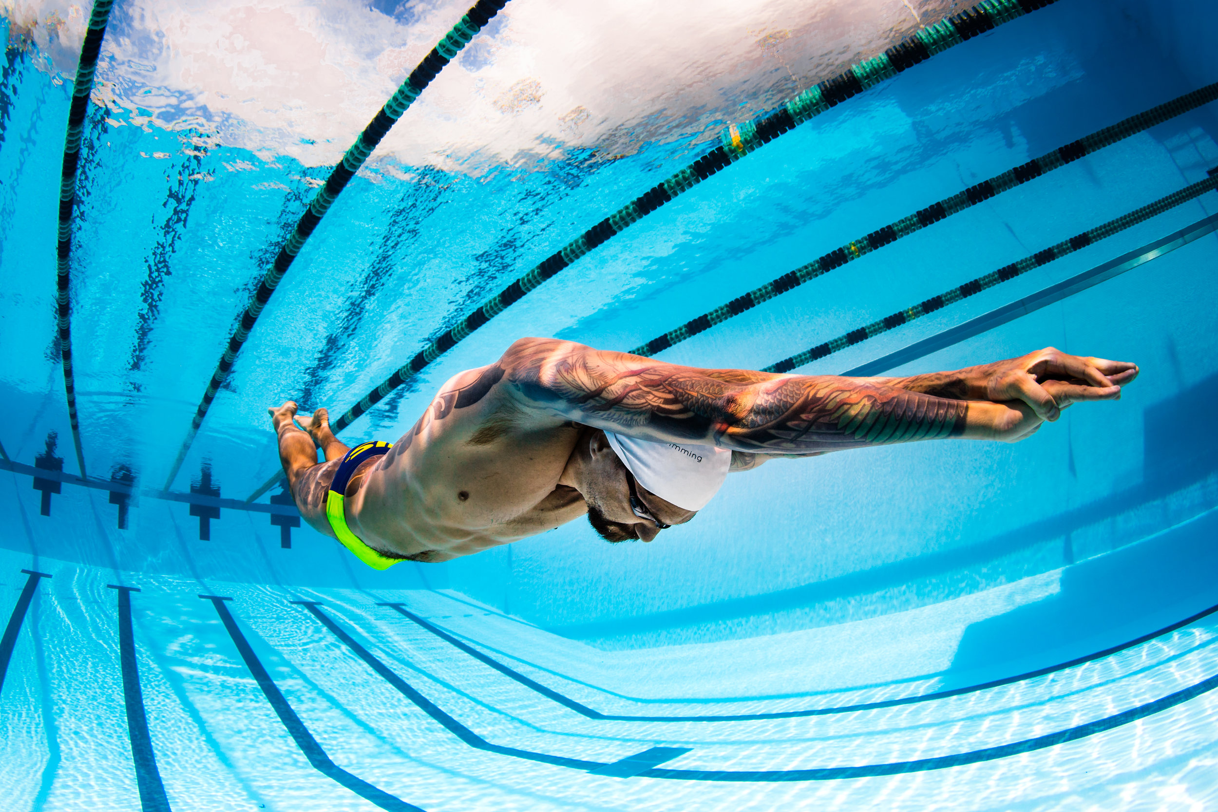 olympic gold medalist anthony ervin swim photo