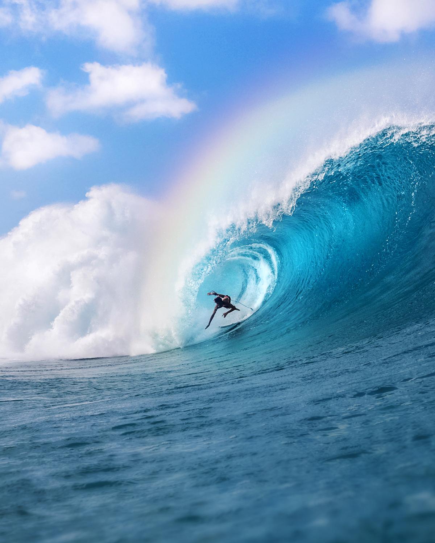 surfing rainbow photo