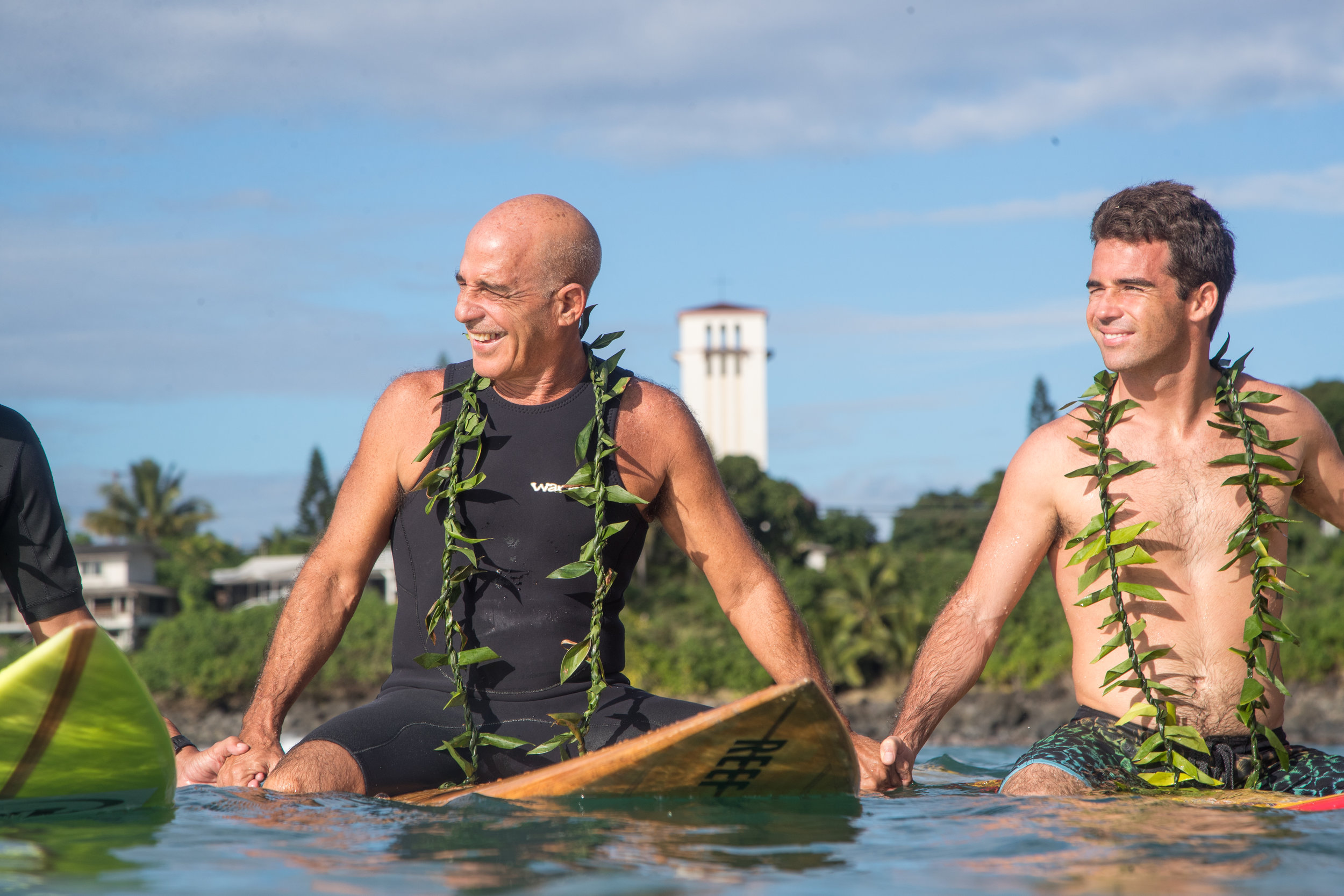 Mason Ho & father at the Eddie Opening Ceremony 2018