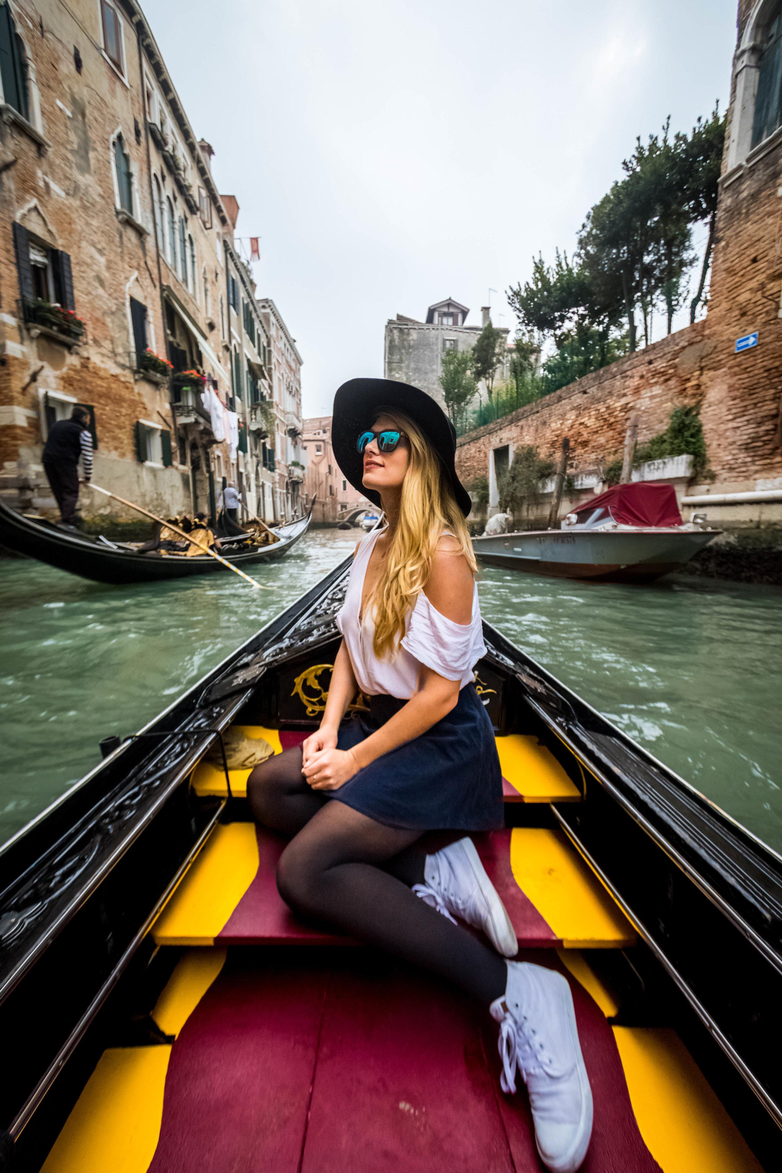 Gondola in Venice, Italy y Connor Trimble
