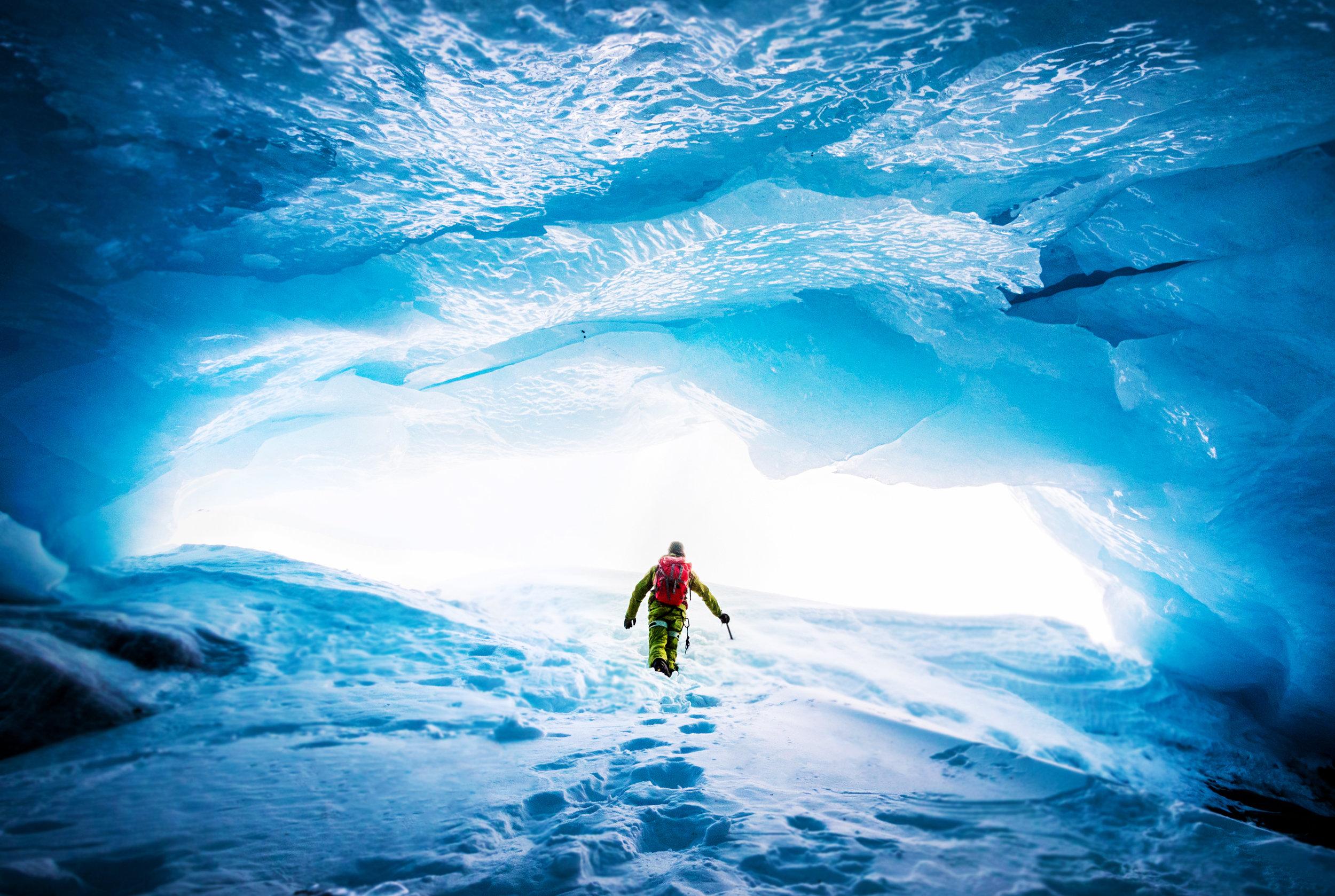 Glacier cave Alaska