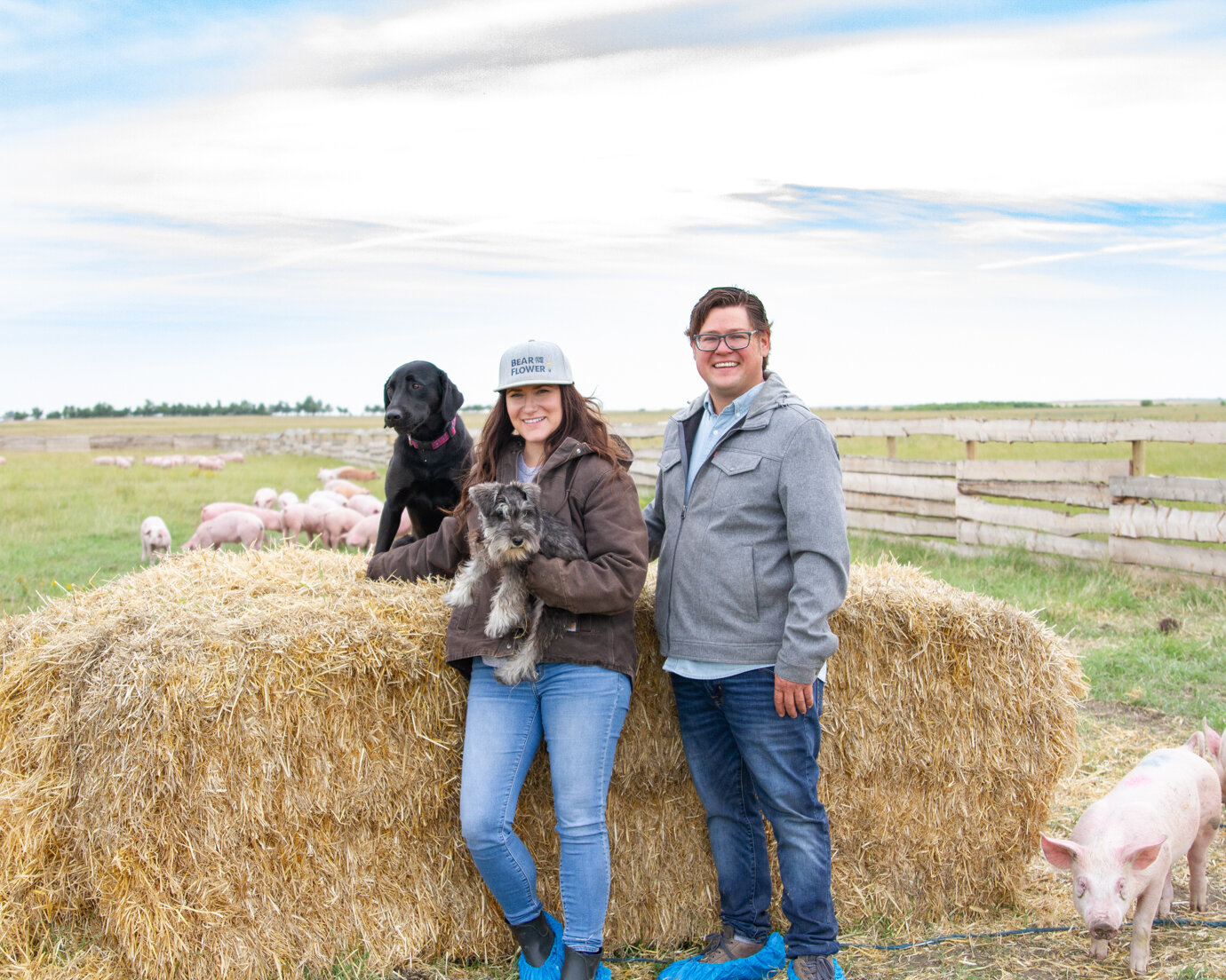 The Fasoli Family, Bear & Flower Farm, Irricana, AB