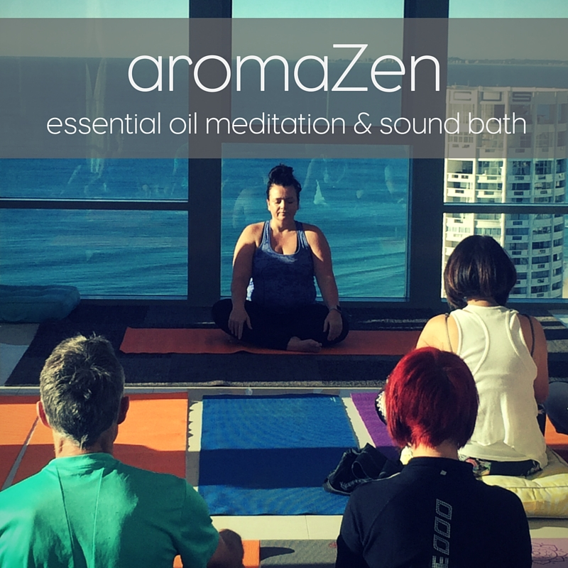 aromaZen guided meditation and sound bath