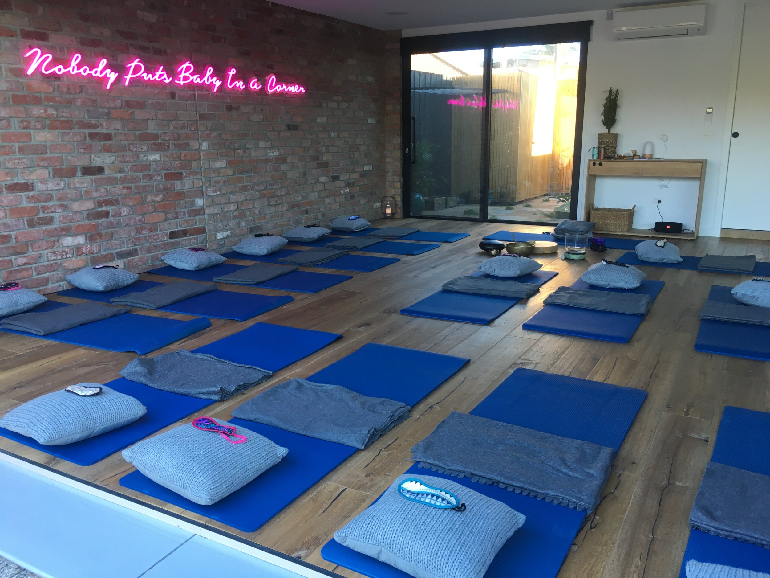 'Baby's Corner' -  A beautiful home studio and the location of our regularly SOLD OUT monthly aromaZen 'Full Moon' experiences. Home studios are a great place to grow your tribe with aromaZen.