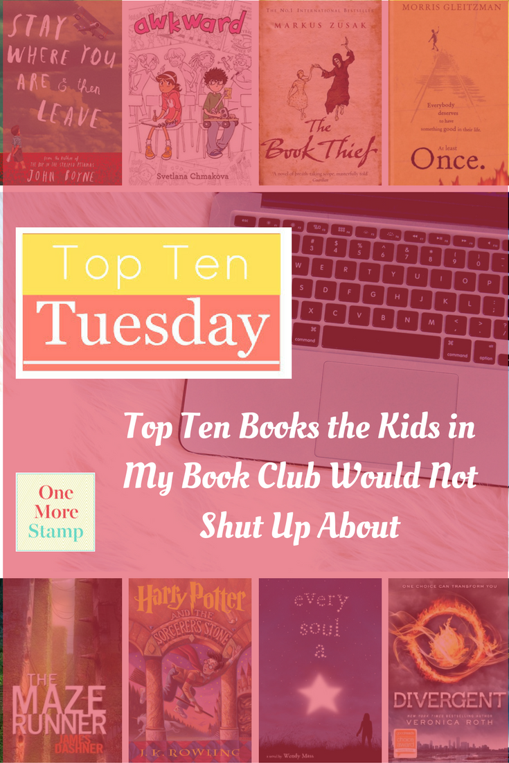 Top Ten Tuesday is a brilliant meme created by  The Broke and the Bookish.