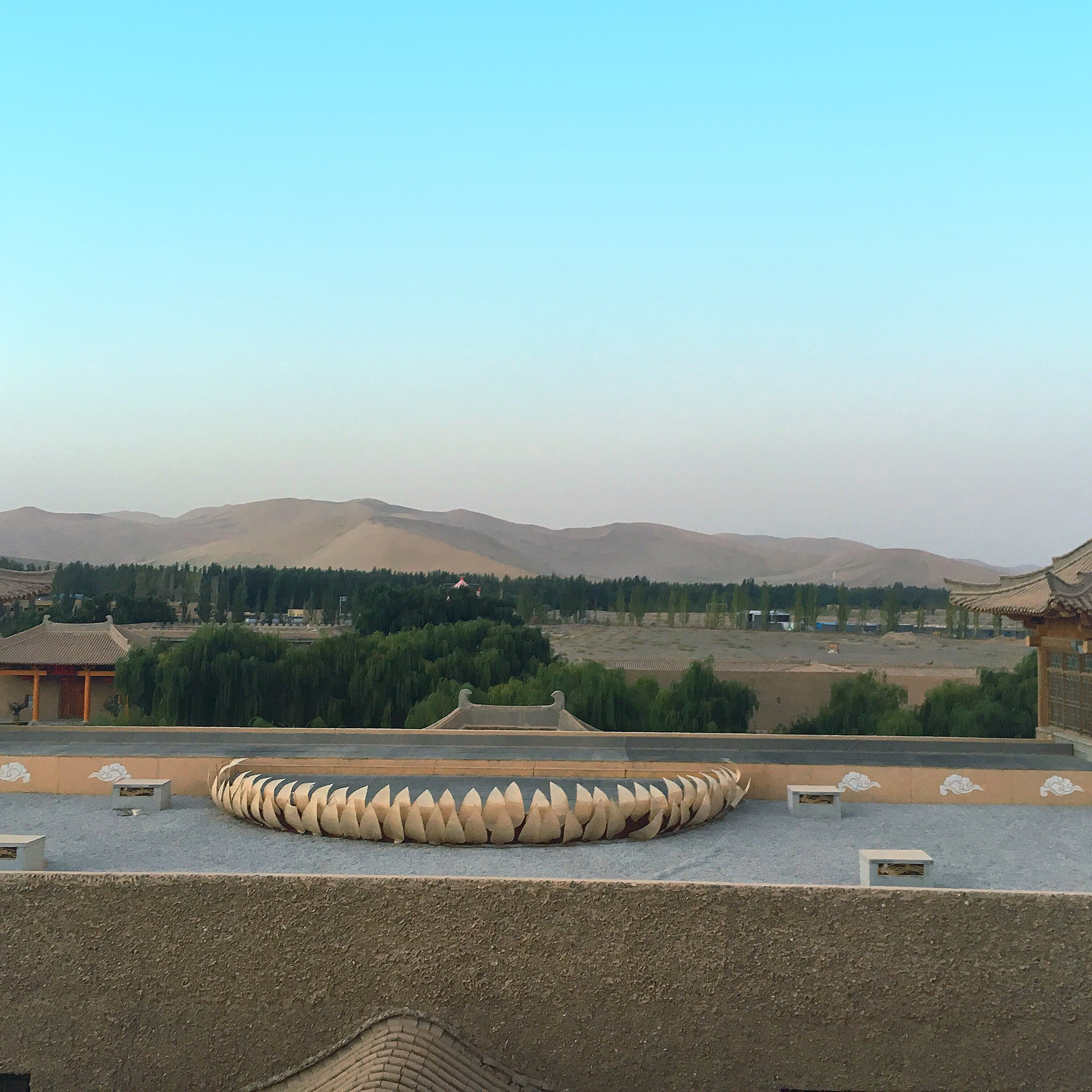 Dunhuang hotel on the dunes