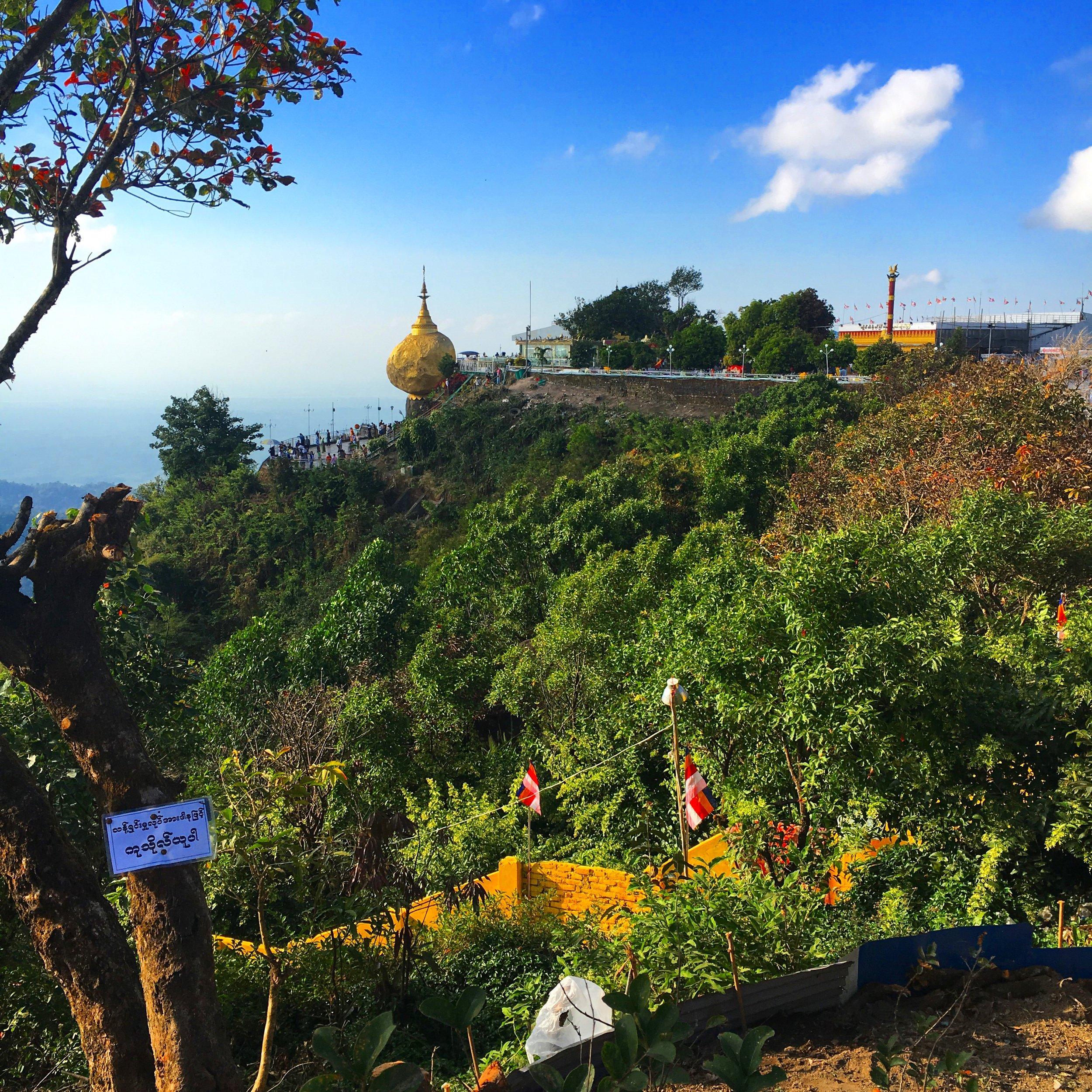 Golden rock myanmar www.onemorestamp.com