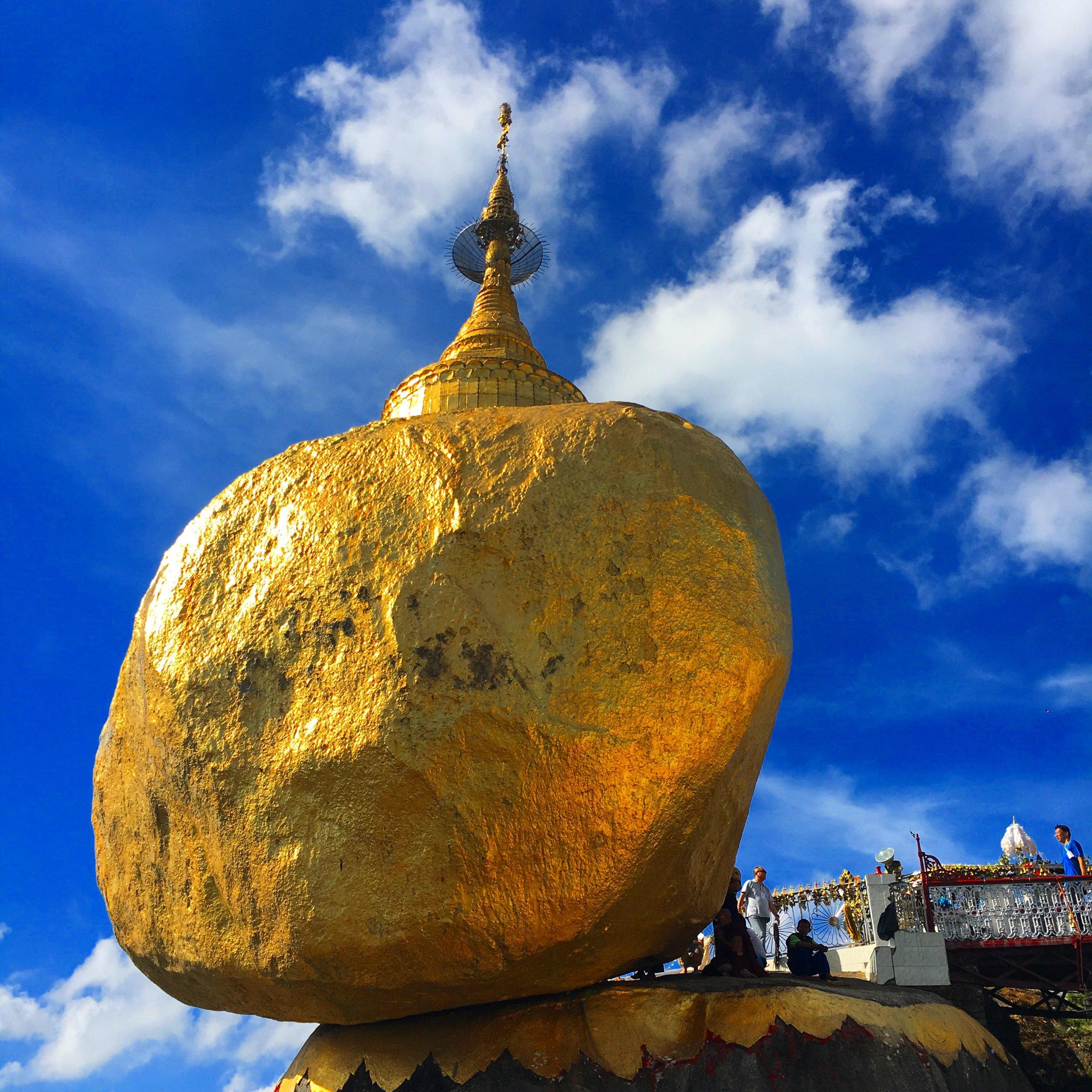 Goldren rock myanmar www.onemorestamp.com
