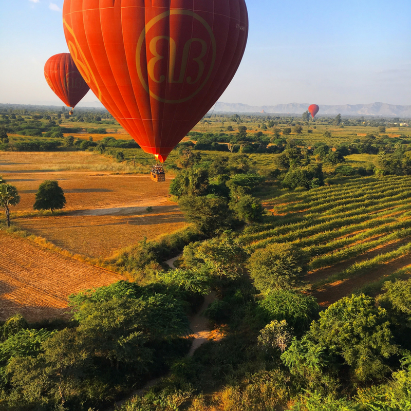 Balloons over bagan www.onemorestamp.com