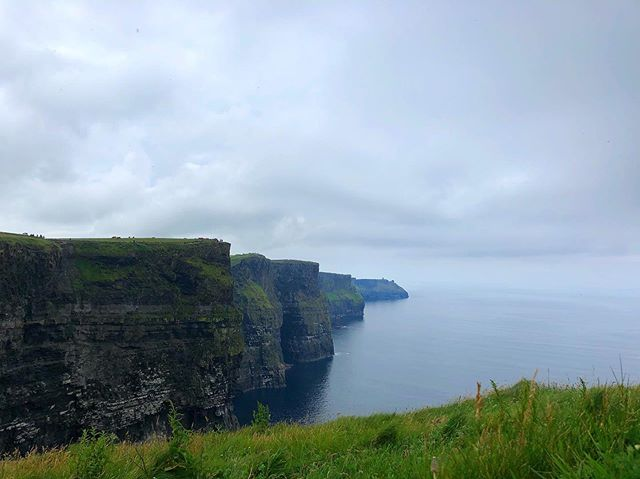 It's too late! See! The cliffs of Insanity! Or, er, the cliffs of Mohar. See the tiny specks at the top? Those are people Incase you were wondering about the scale. #pleasehavegottenmyreference #ireland #roadtrip #cliffs #cliffsofMohar #countyclare #travel #wanderlust #1ms2019