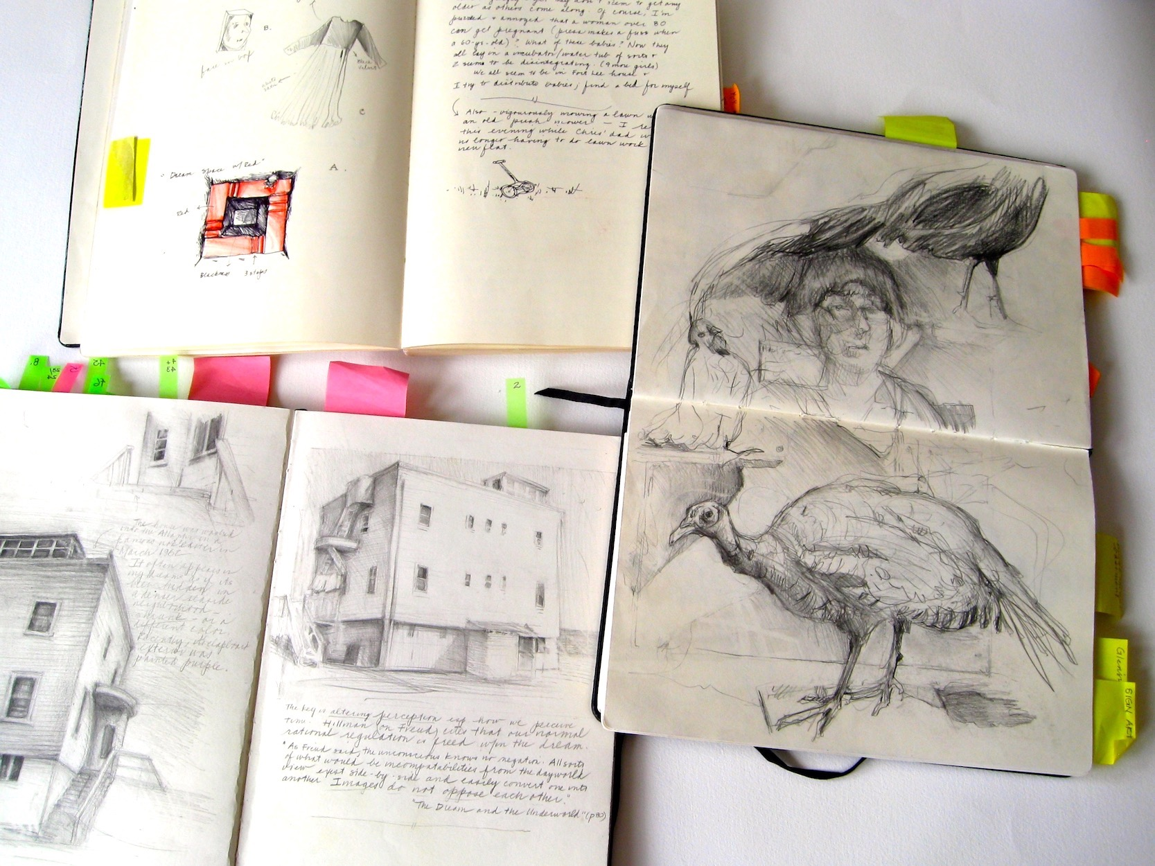 Various Research Sketchbooks