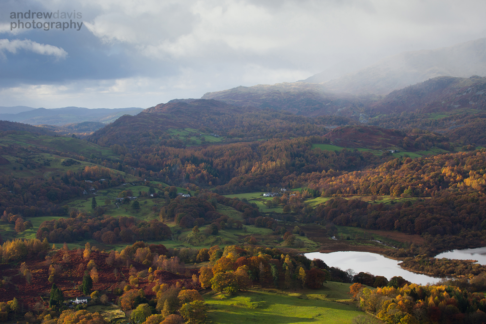 Elterwater from Loughrigg Fell, Cumbria