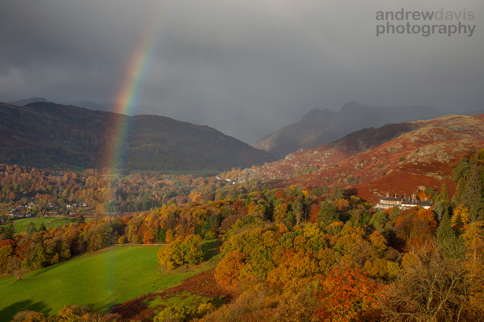 Rainbow over the Langdale Valley, Cumbria
