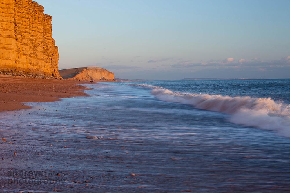 West Bay, winter sunset, Dorset
