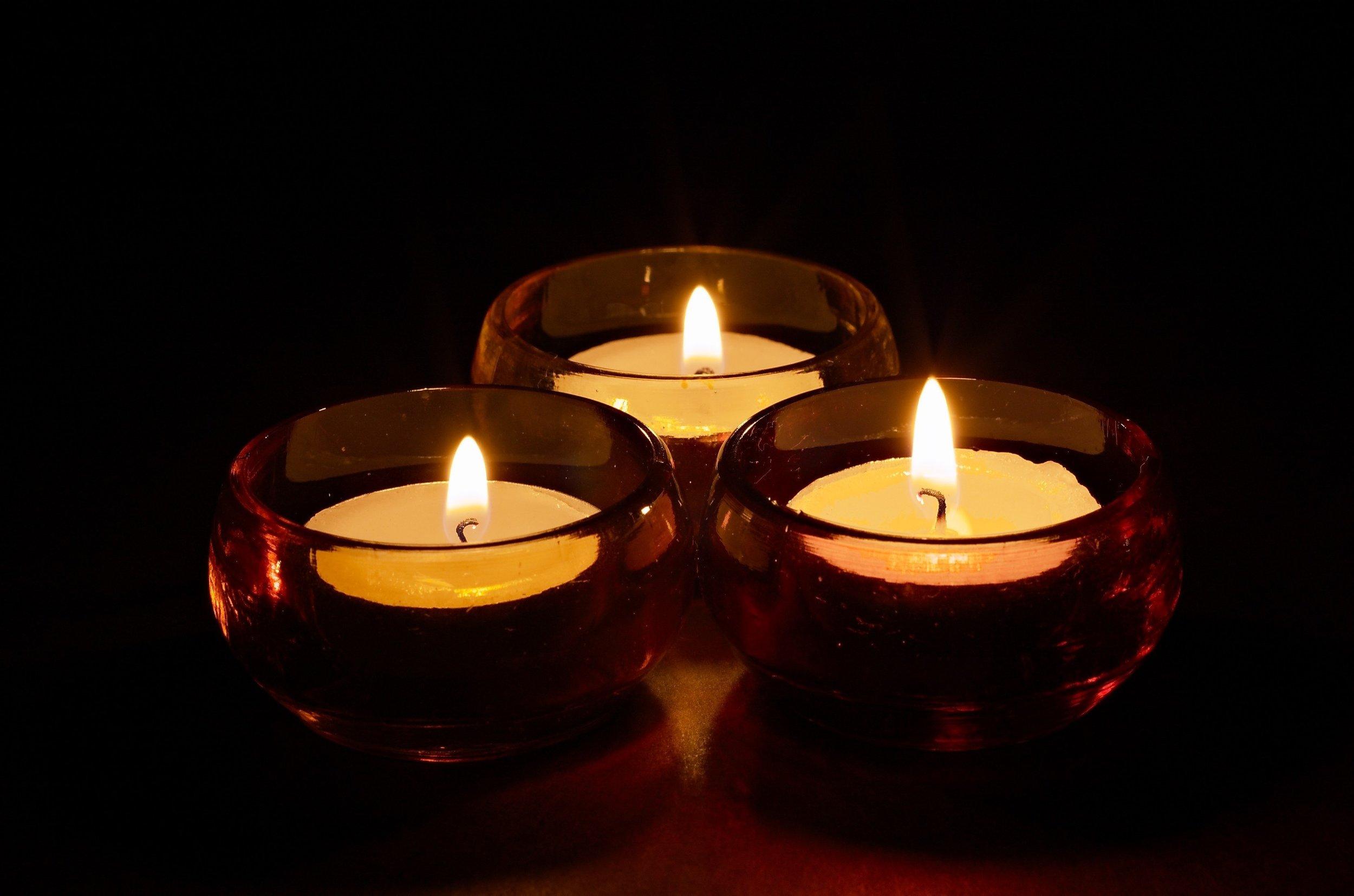 Mindfulness Meditation Candle