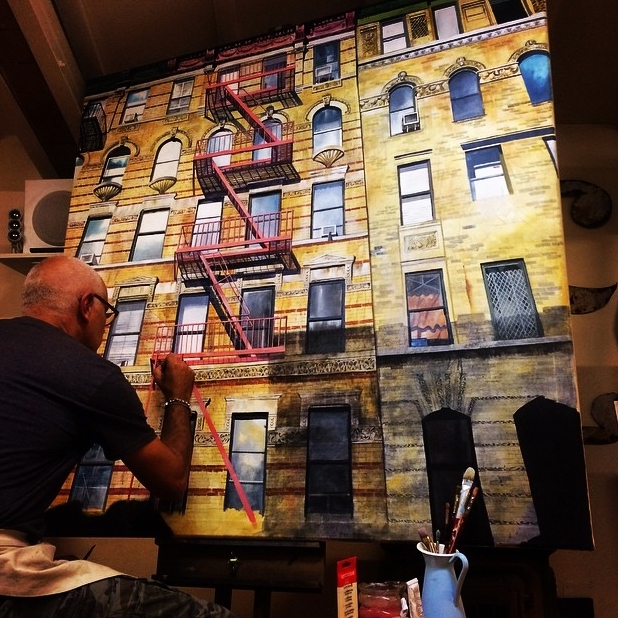 work in progress | East 22nd Street, NYC  Acrylic on canvas 5' x 5' NYC Series 2015