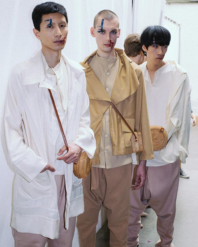 Day 1 Liverpool John Barnes My models @joshuajsmall (centre) and @chi.hammm  Photo credit @jadeberry___  #backstage @officialgfw  #wearegraduatefashion #gfw19 Makeup designer @lucylauracreative  For @solentmakeupandhairdesign  Using @illamasqua #artistry palette in #experimental #illamasqua  #ukmakeupartist