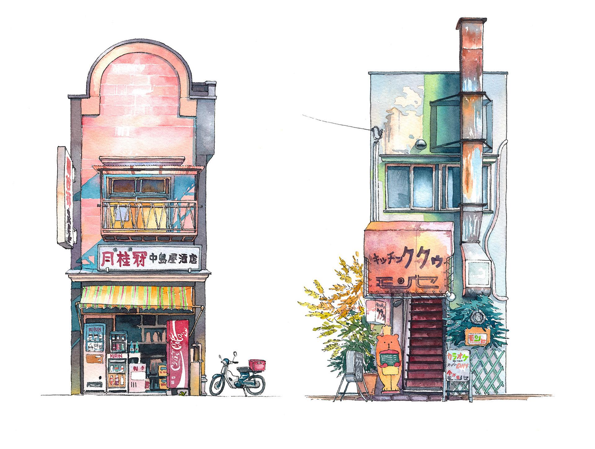 Nakashimaya Japanese sake shop from Mejiro district and Kitchen Kuku restaurant from Kichijyouji district