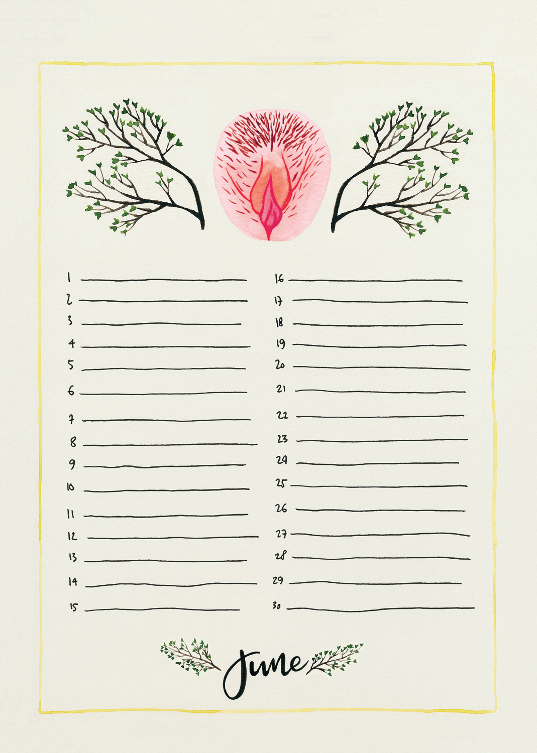 6. The Vulva Gallery Birthday Calendar June - 2018 (s).jpg