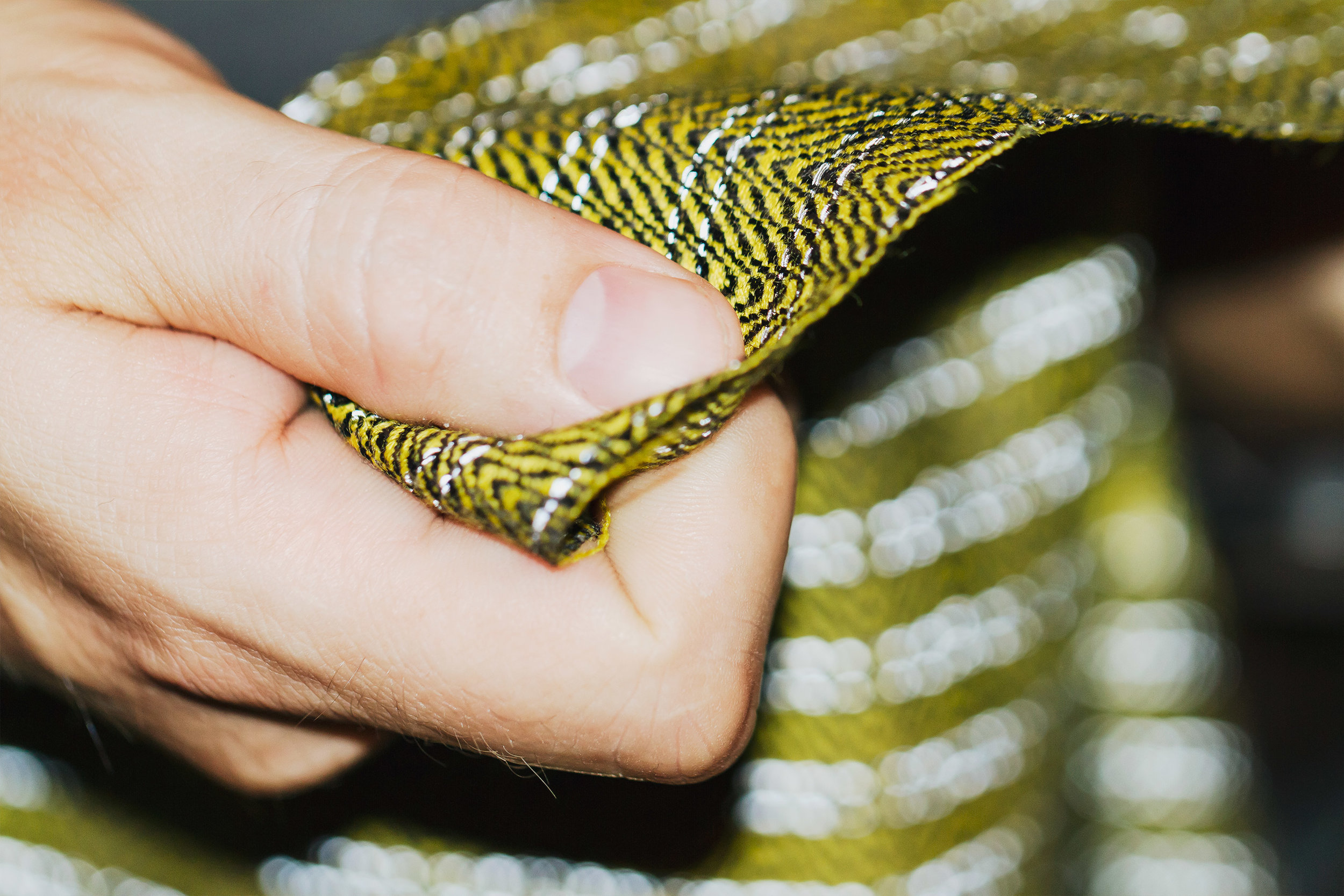 Vibrant Yellow Fabric