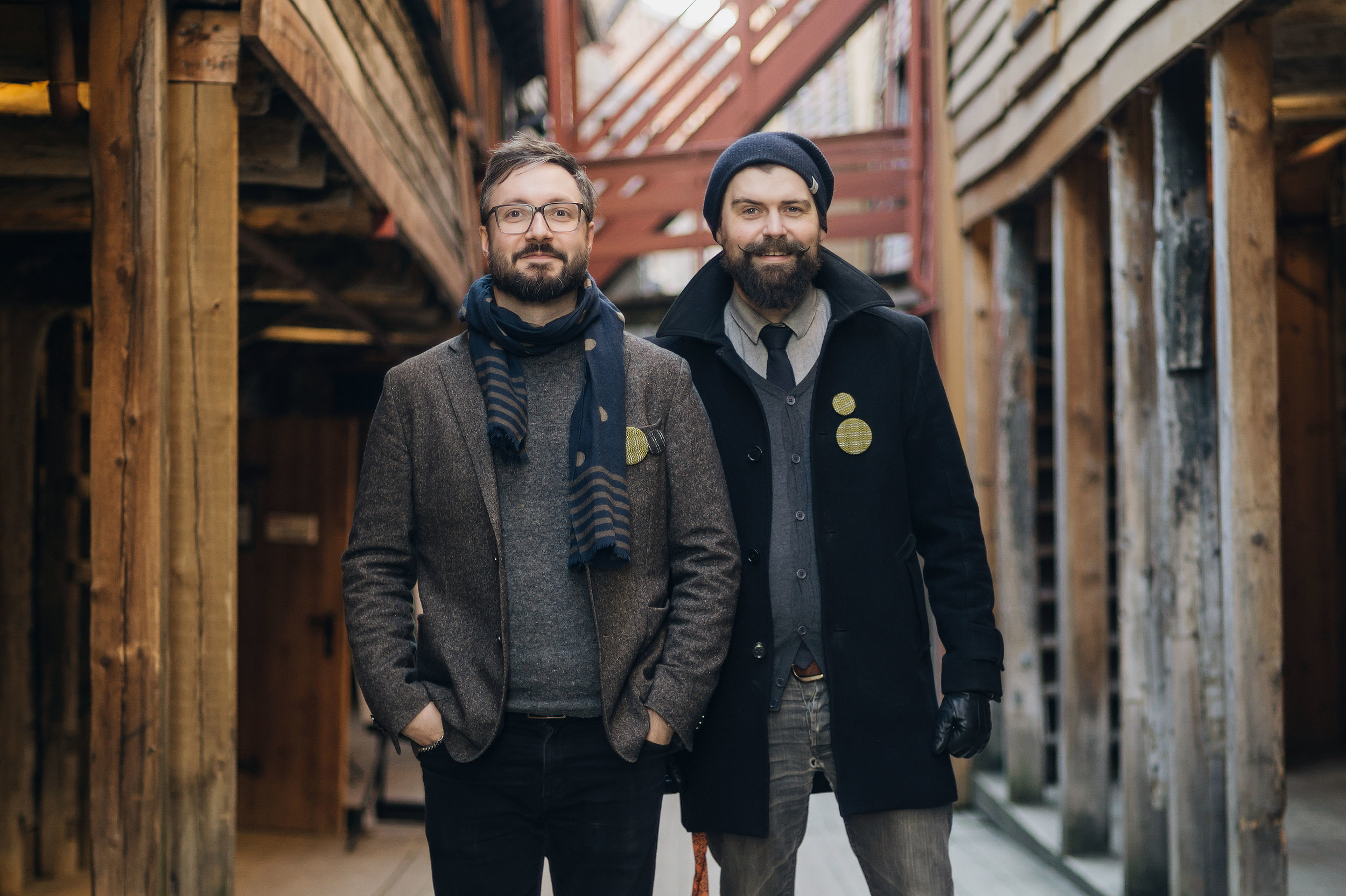 photography by: Jacob Lysgaard. Jørgen & Håvard at bryggen Bergen.
