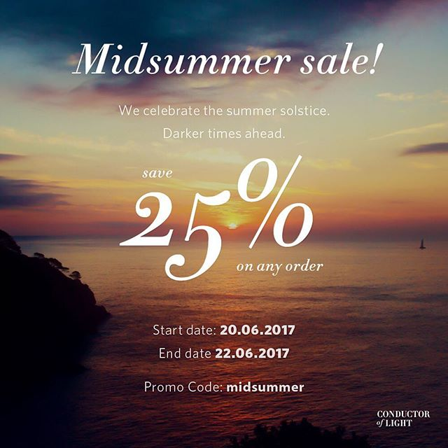 Tomorrow we start a Midsummer sale! 25% of on any order :) Pick up your Reflective Tweed button and get ready for the darker times #midsummer #modsummer2017 #solstice #sunset #northlight #northernlights #sale #25percent #summer #cofl #conductoroflight #refletive #tweed