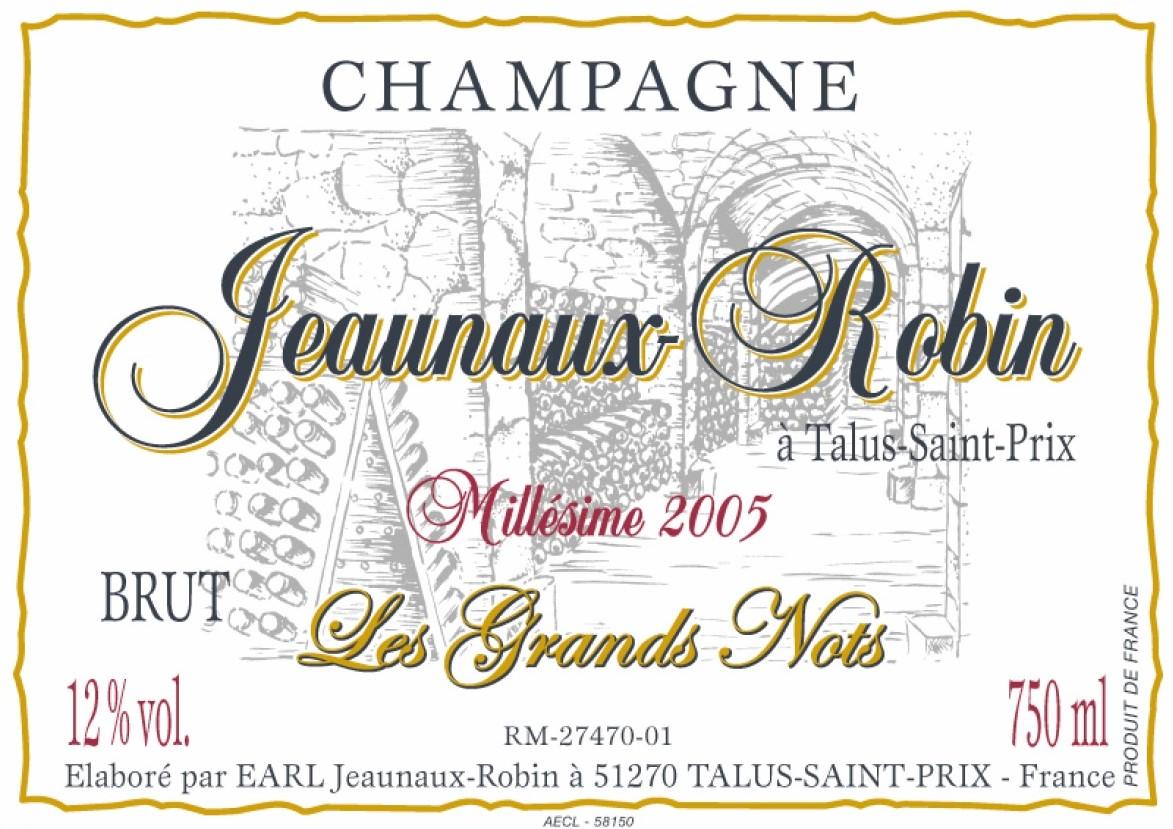 Jeaunaux-Robin Les Grands Nots 2005 Front Label.jpg
