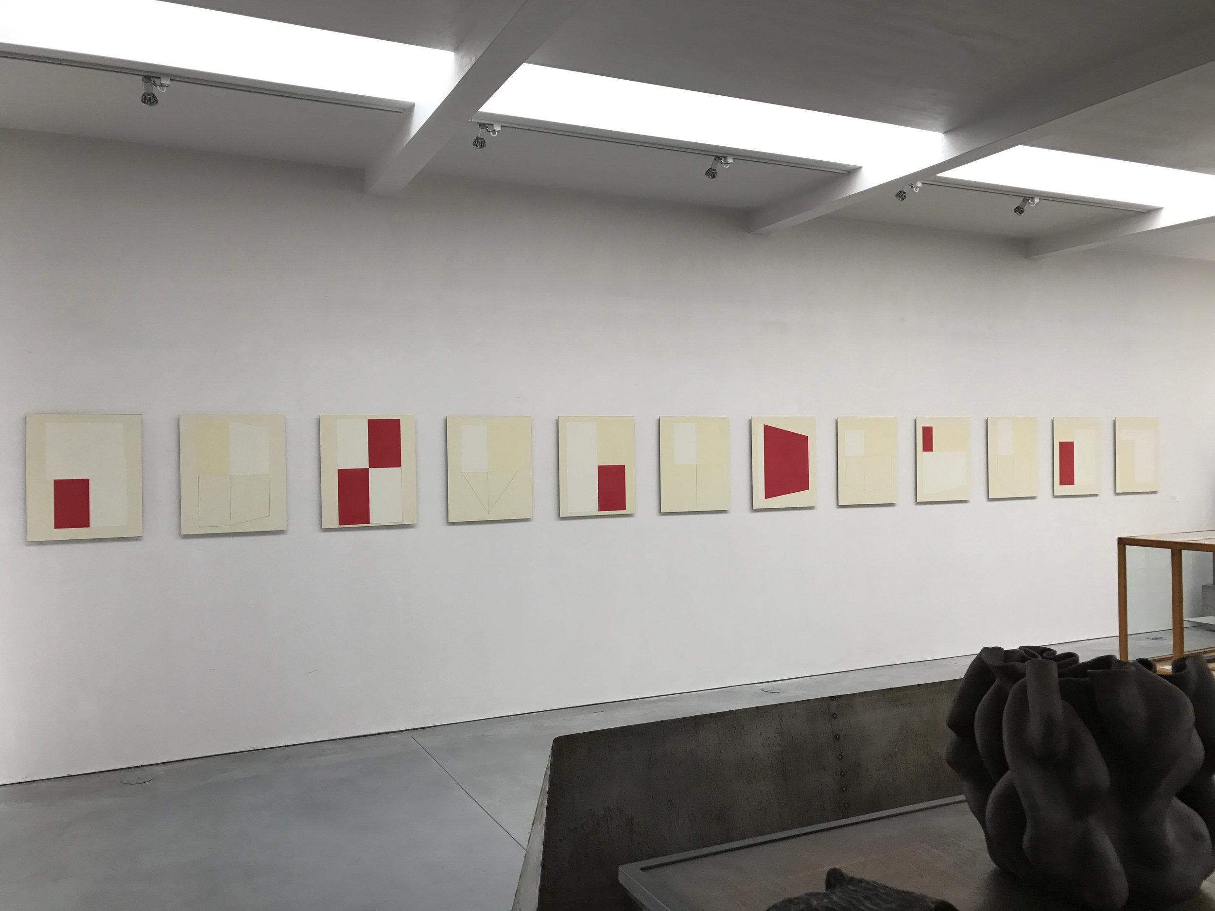 Winter Drawings install Corey Daniels Gallery 2017