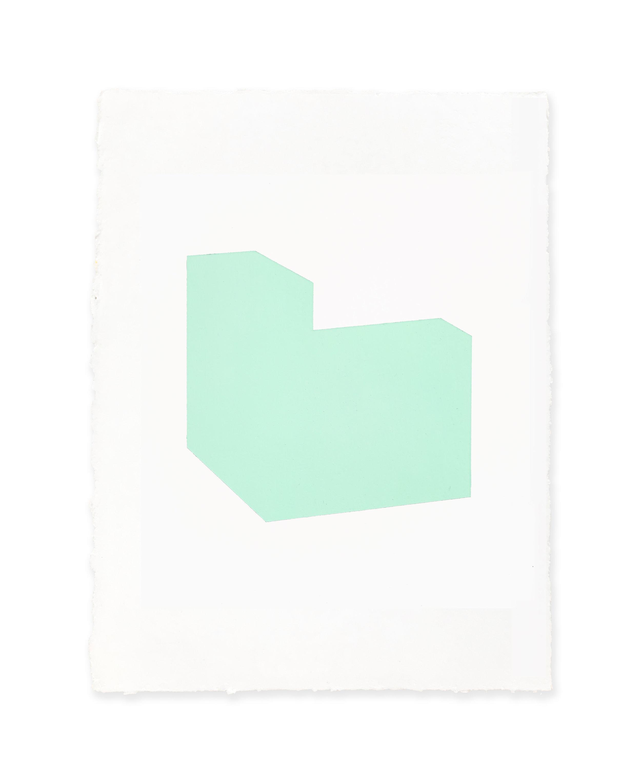White w/green