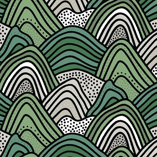 Really fun project I've been working on this summer. Working with the @alltold_studio crew, I developed two custom wallpaper patterns for the new @padmanadi opening soon. This is the first pattern, based on the mountain ranges and rice fields of Indonesia. Super fun project that has a ton of big impact in the space. You'll have to see it in person, because the photo I have doesn't do it justice.