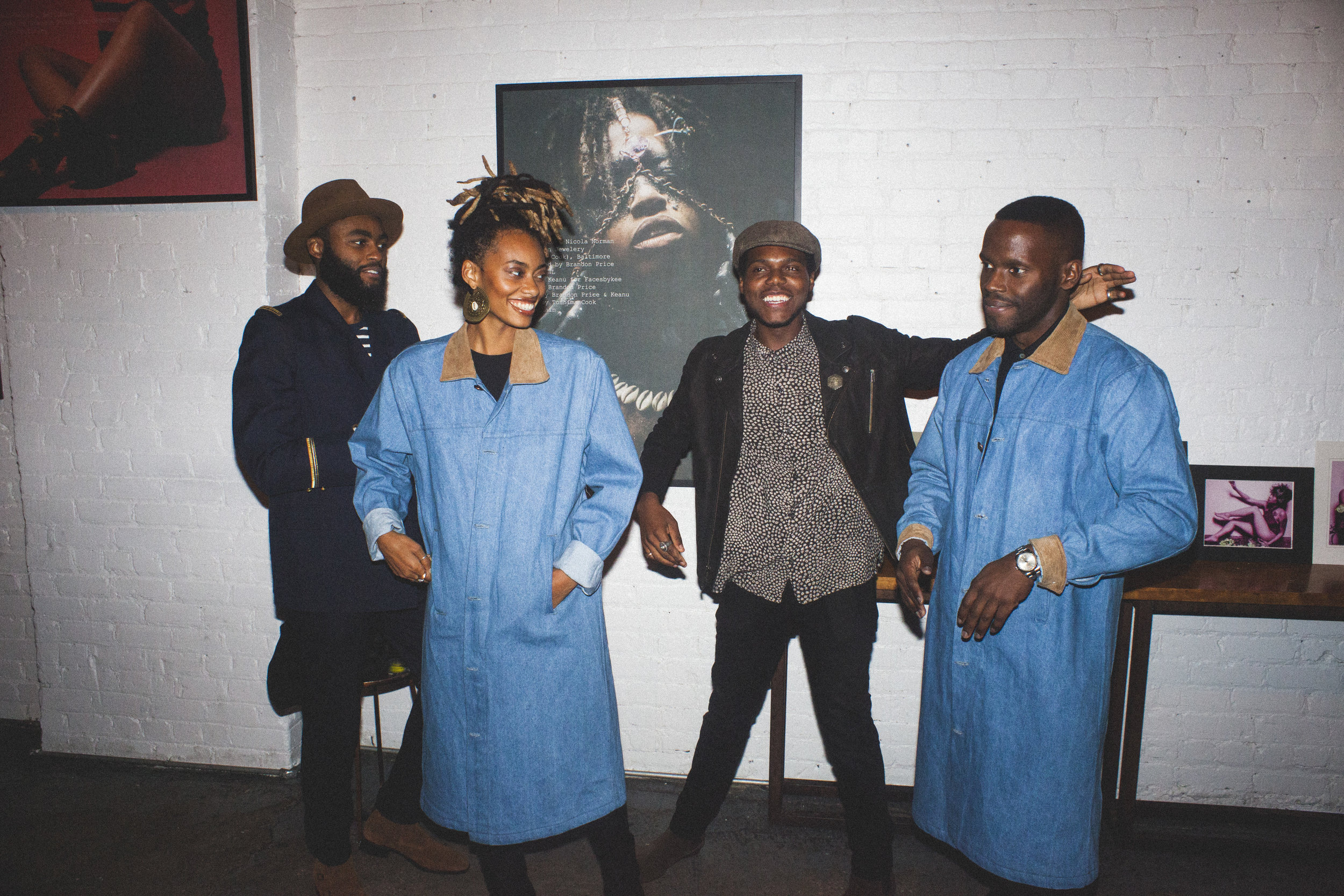 Designer team Rony Byas and Harvey Leon with the Renaissance Coat / Freddie Rankin II