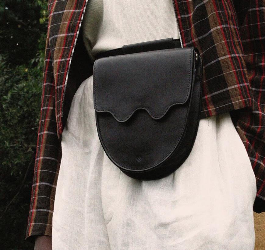 ASHYA Palmetto Belt Bag in Onyx / Photo Courtesy @ashya.co