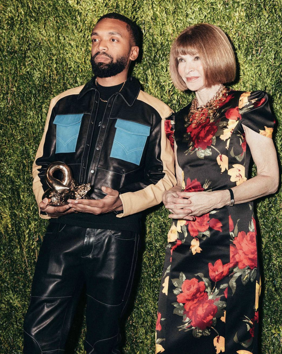 Designer Kerby Jean-Raymond of Pyer Moss and  Vogue  EIC Anna Wintour / Photo Courtesy @kerbito