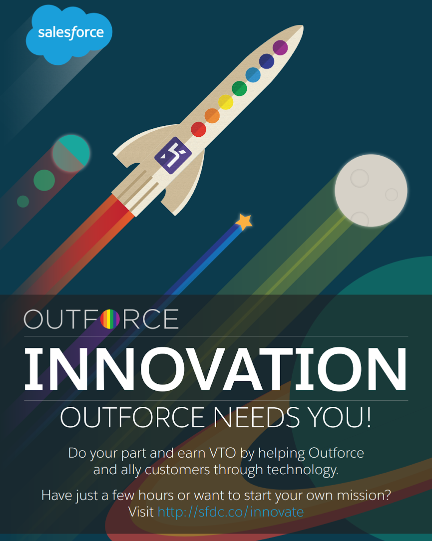A poster I designed for the Outforce Innovation team