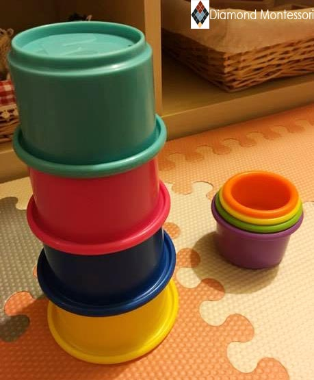 All the expensive, organic, natural wooden toys and her favourite are $6 plastic cups. Obviously.