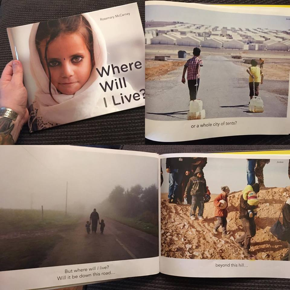 This book features photos from the United Nations High Commissioner on Refugees