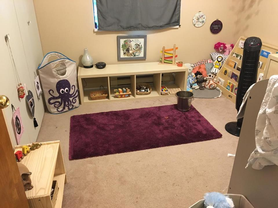 Her very small bedroom.