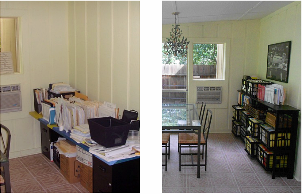 office paper filing organization before and after