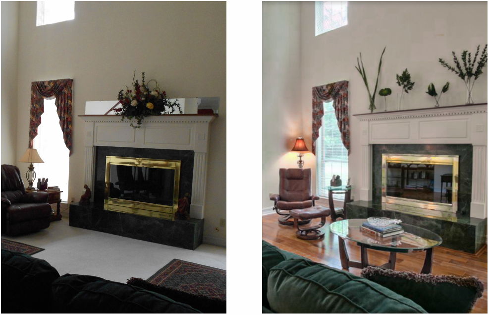 tallahassee home staging before and after