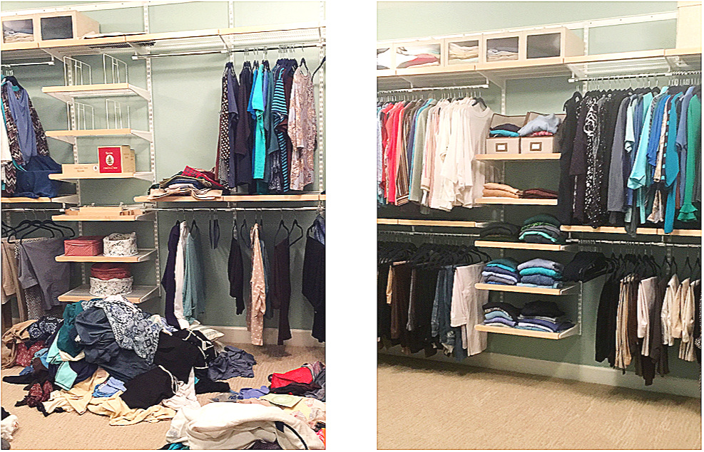 elfa+organized+master+closet+before+and+after