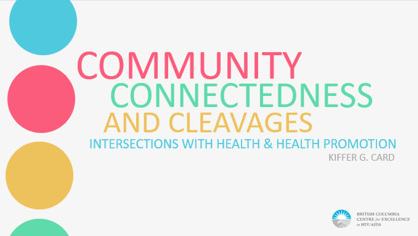 Community Connectedness and Cleavages